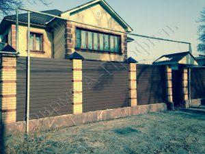 Забор из Сайдинг-вагонки 123 RAL7024мат